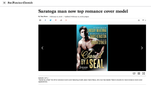The San Francisco Chronical celebrates Jason's incredible record of 461 romance covers!
