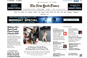 Jason Baca, model for Lindsay McKenna's HOLD MY HEART, is on the front page of the New York Times!