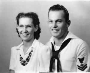 Jack Zimmerman and ruth zimmerman my mother and he s my father  1940 2nd class pharmacist s mate usn en