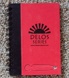 SWAG for public library patrons!  This is a very COOL spiral bound notebook---check out the PEN at the bottom that comes with it!  Unique!
